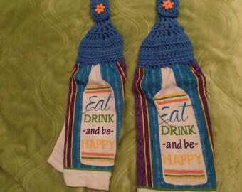 Crochet Hanging Towel, Crochet Top Towel, Kitchen Towel, Kitchen decor, Kitchen Accessory