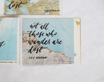 Custom Maps - 8x10 Brushlettering Quote - Home Decor/Nursery/Wedding - Limited Time!