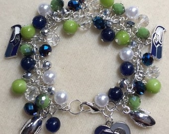 Seattle Seahawks Charm Jingle Bracelet