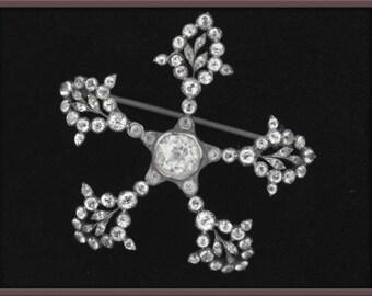 Victorian paste flower pin. (pnvc769)