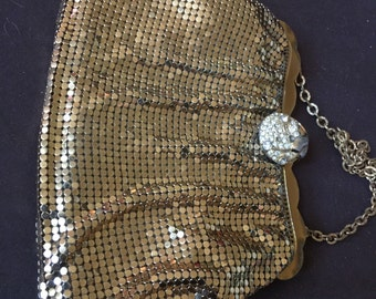 Vintage Whiting and Davis Mesh Purse Bag USA
