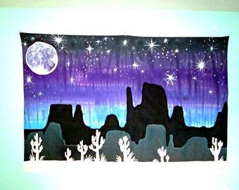 Desert Dreams Tie-Dye Tapestry