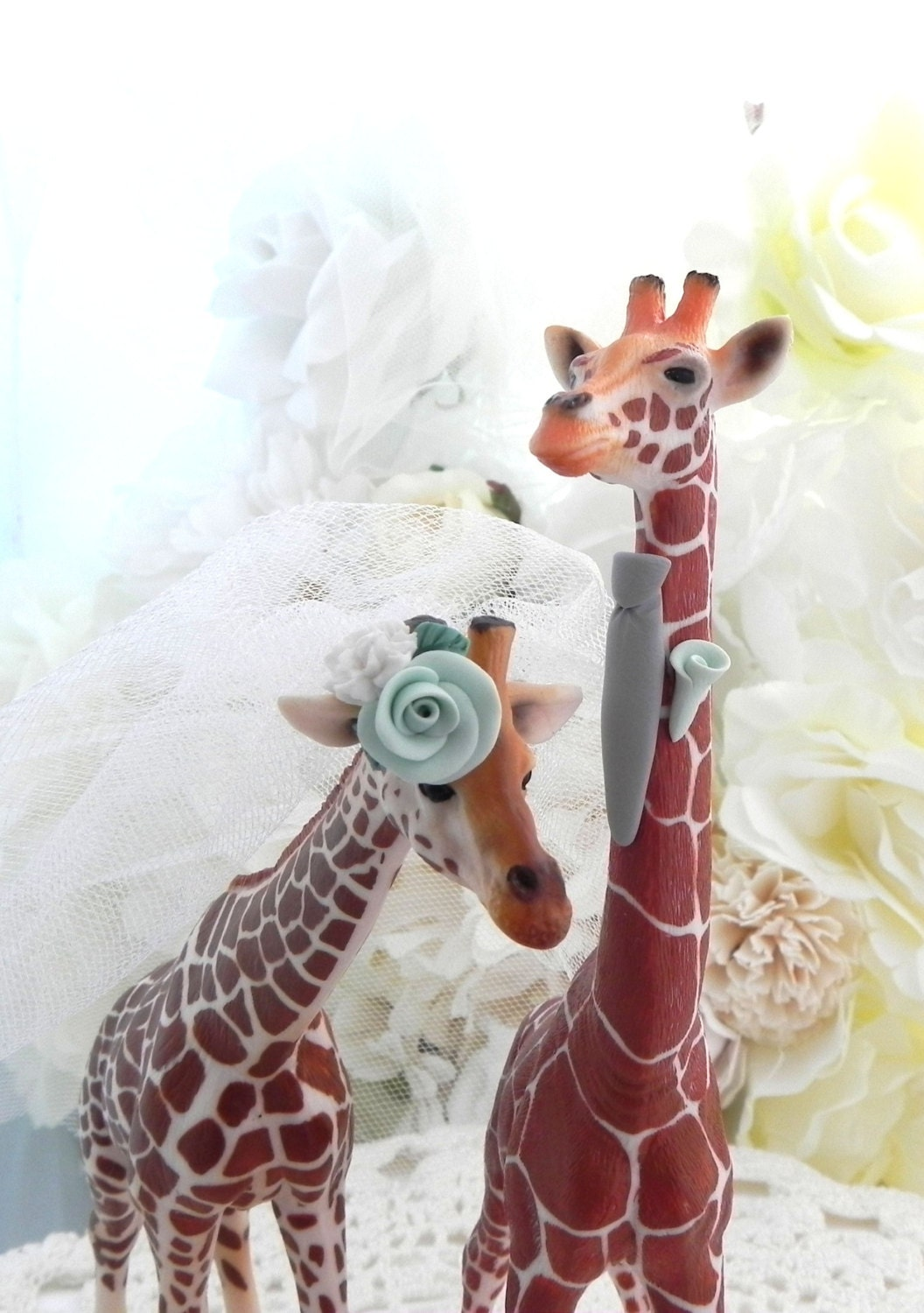 Giraffe Couple Wedding Cake Topper With Custom By AnimalToppers