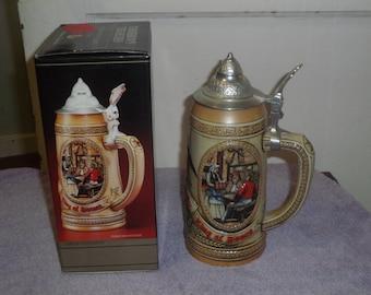 Tomorrow's Treasures - Anheuser-Busch, Inc. Budweiser Ceramic Lidded Stein Limited Edition IV