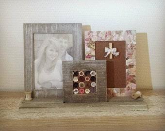 decorative photo frame / memo shabby chic