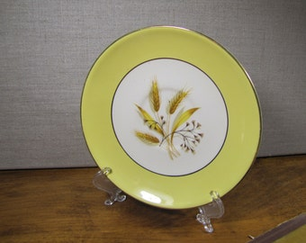 Vintage Sentry Service Corp. - Gold Wheat Pattern - Yellow Rim