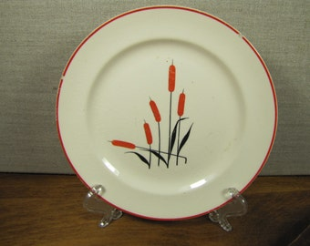 Camwood Ivory - Cattail - Bread and Butter Plate - Repurposing Supply