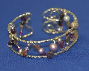 Twisted sterling silver hand formed bracelet