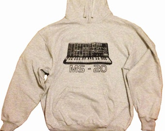 Korg MS20 Hoodie. Screenprinted original design.