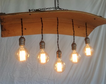 Barrel Stave Canopy Chandelier