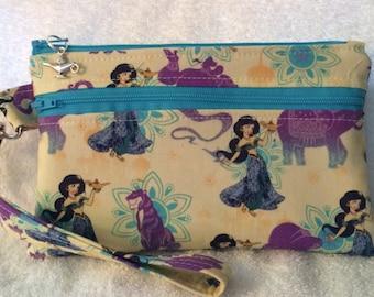 Wristlet or Small Purse - Disney - Jasmine and Friends
