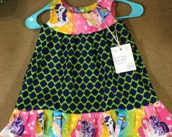 My Little Pony Inspired Jumper Dress, Size 2T-3T