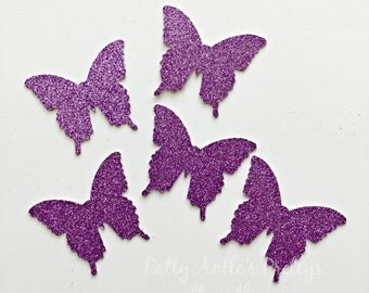 Glitter Butterfly Die Cuts, Butterfly Die Cuts, Butterfly Confetti, Glitter Butterflies, Glitter Butterfly, Garden Party Decor, Fairy Decor