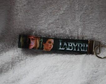 Labyrinth inspired key fob Goblin King David Bowie