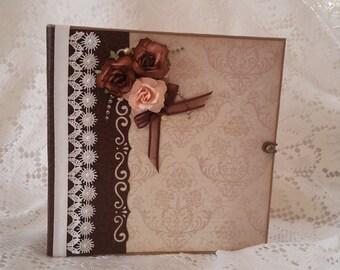 Whimsical Av-ant Garde Scrapbook Mini Album, 6.5 x 6.5 Mini Album, Handmade Scrapbook Photo Album