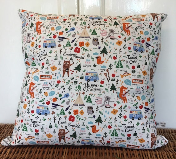 Scandinavian Style Pillows : New Handmade Camping Fox Scandinavian Style Cushion/Pillow