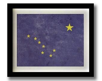 "Alaska Flag Print - 11x14"""