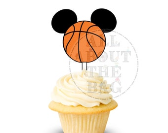 Instant download: Mickey Mouse Basketball Cupcake toppers