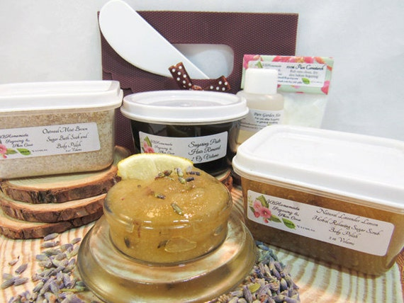 Lavender Lemon Scrub Sugaring Paste Deluxe Starter Kit