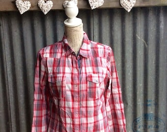 Vintage red checked lumberjack style shirt