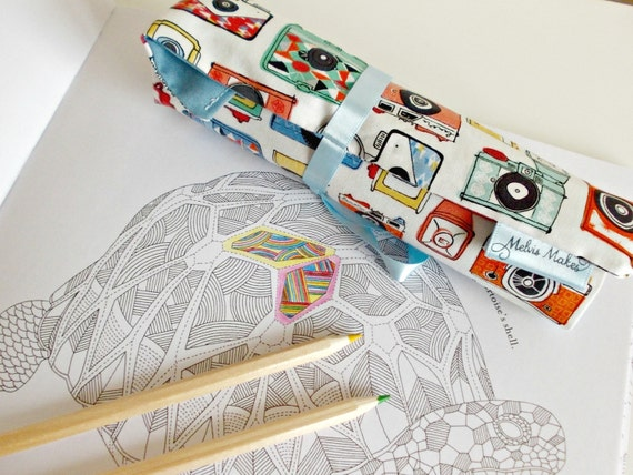 15 Wooden Pencil Roll Colouring Pencils Handmade Camera