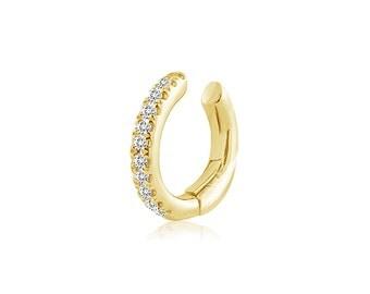 Diamond Cartilage Ear Cuff 14K