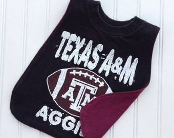 Texas A&M Pullover T-Shirt Bib.  Perfect gift for babies and toddlers!