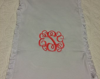 SALE ** Monogrammed baby burp cloth