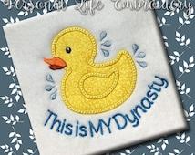 Rubber Duck Dynasty Summer Splash Baby Machine Embroidery Design Digital Applique Pattern Boy Girl Spring Rain Hunting Funny Cute Shower