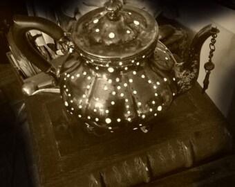 Down the Rabbit Hole Tea Pot Lamp