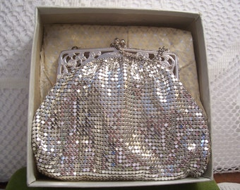 Whiting and Davis Co. Silver Mesh Evening Bag