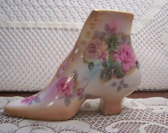 Vintage Victorian R&S Russian Porcelain Shoe
