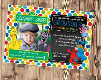 Sesame Street Invite -  Sesame Street Invitation - Printable File