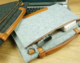 Custom Felt 11.6,13.3,14,15.6 Laptop Sleeve ,Felt Laptop bag for Apple Macbook,HP Envy,Samsung Chromebook,ThinkPad x1 Carbon 14 -TFL005