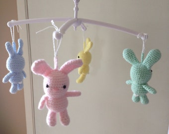 Keepsake bear/bunny baby mobile