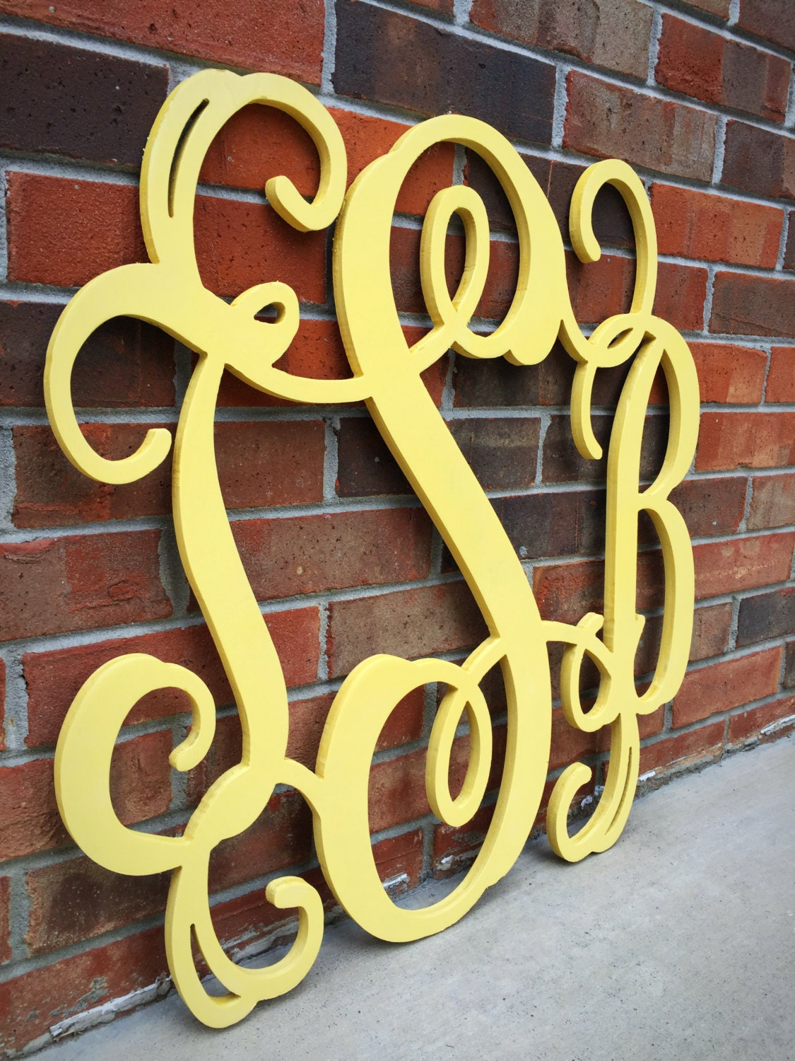 30 Inch Wooden Monogram Painted You Pick The Color