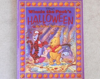 Winnie The Pooh's Halloween, Disney Book, Preschool Halloween Fun / Introduce Halloween to the Young Child / Pooh & Friends in Costume