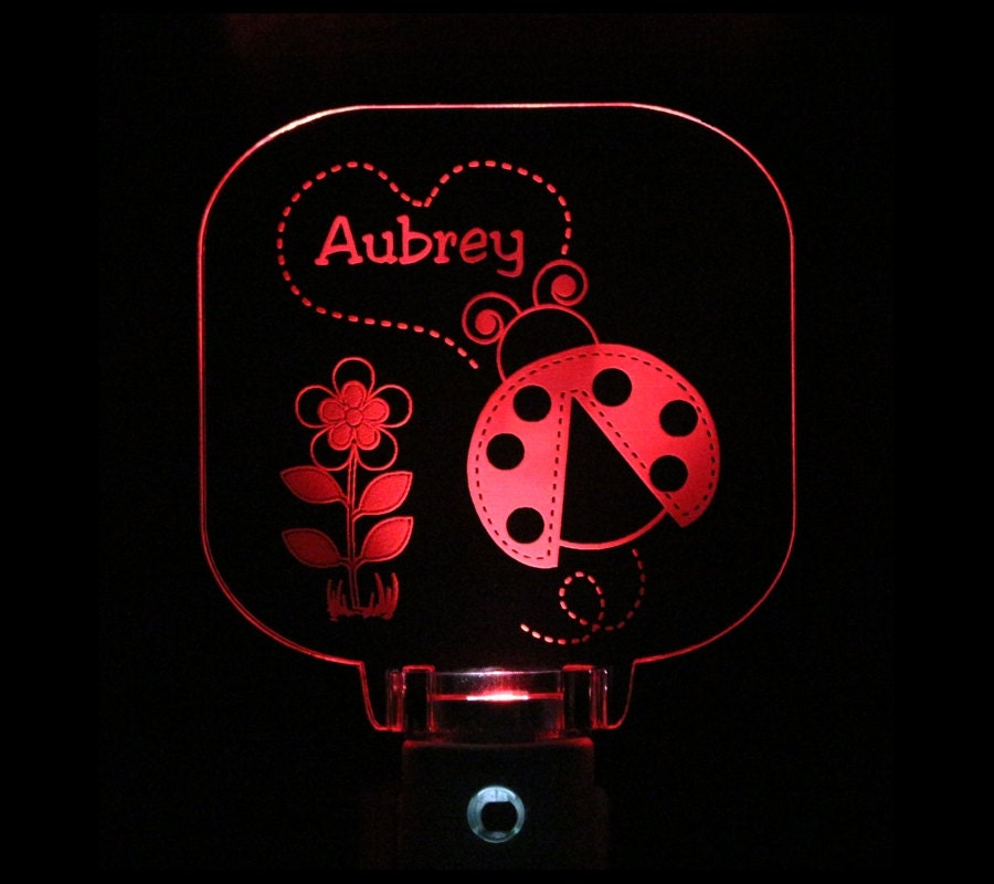 Ladybug Night Light Personalized Choose color