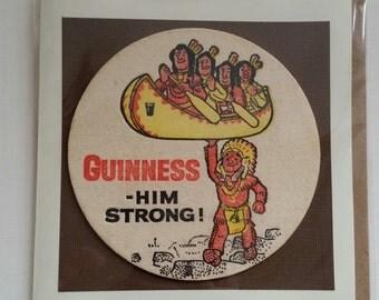 Original 1950's Guinness beer mat card