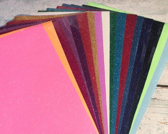 "Siser Glitter HEAT TRANSFER vinyl sheet 20"" x 12"" glitter colors-  Iron On T-Shirt Wedding DIY"