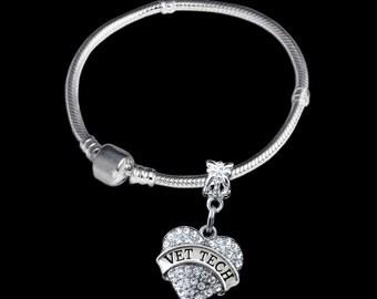 Vet tech bracelet Vet tech gift Vet gift Vet tech jewelry vetranarian bracelet Humane society bracelet