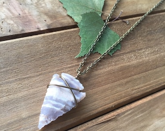 Arrowhead Necklace // Wire Wrapped Necklace // Layering Necklace