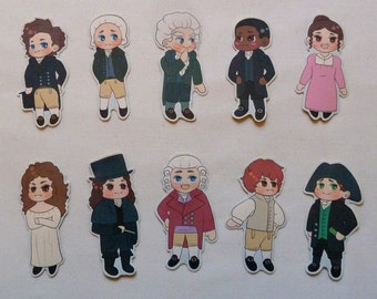 Cute Jonathan Strange & Mr Norrell Inspired Stickers