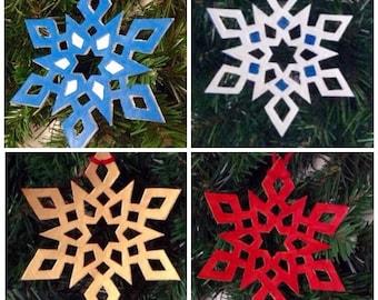 Snowflake Ornaments, Leather Christmas Ornaments, Christmas Tree Ornaments, Holiday Ornaments, Yule Ornaments, Winter Decor