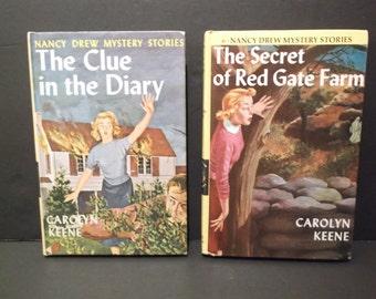 Nancy Drew Mystery Stories - Set of 2 Vintage Books