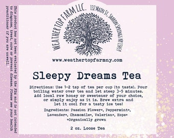 Sleepy Dreams Tea 2 oz loose tea
