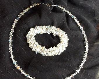 Crystal handmade necklace and bracelet