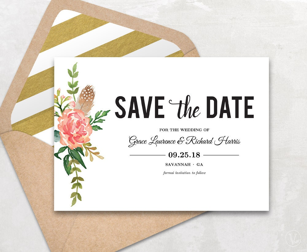 Stupendous image in printable save the dates templates