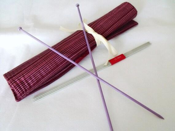 Knitting Needle Storage Roll : Knitting needle roll holder storage