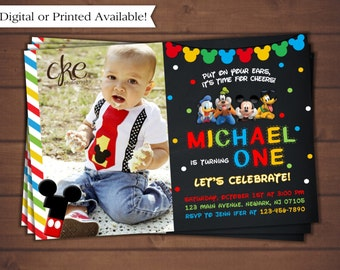 Mickey Mouse Invitation, Mickey Mouse Clubhouse Birthday Invitation